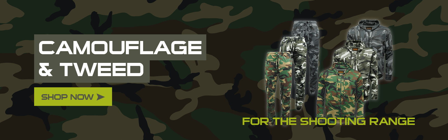 Camouflage & tweed Banner
